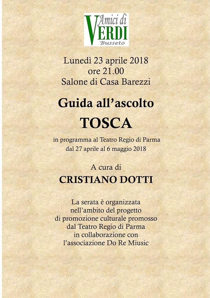 """Guida all'ascolto """"Tosca"""""""