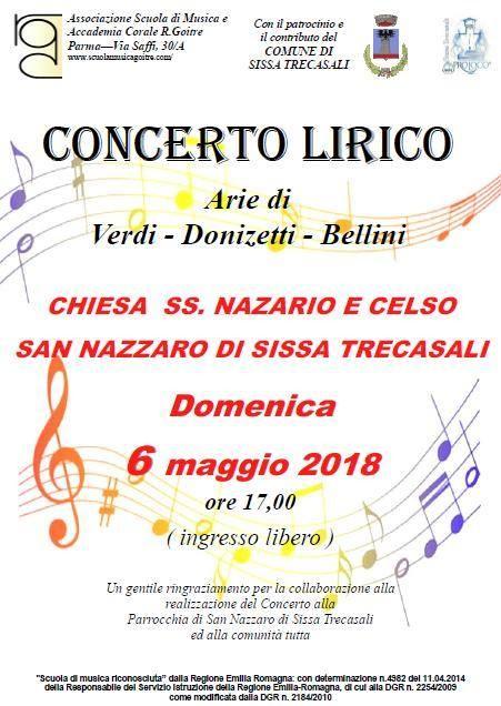 Concerto lirico organizzato da Pro Loco Sissa Trecasali