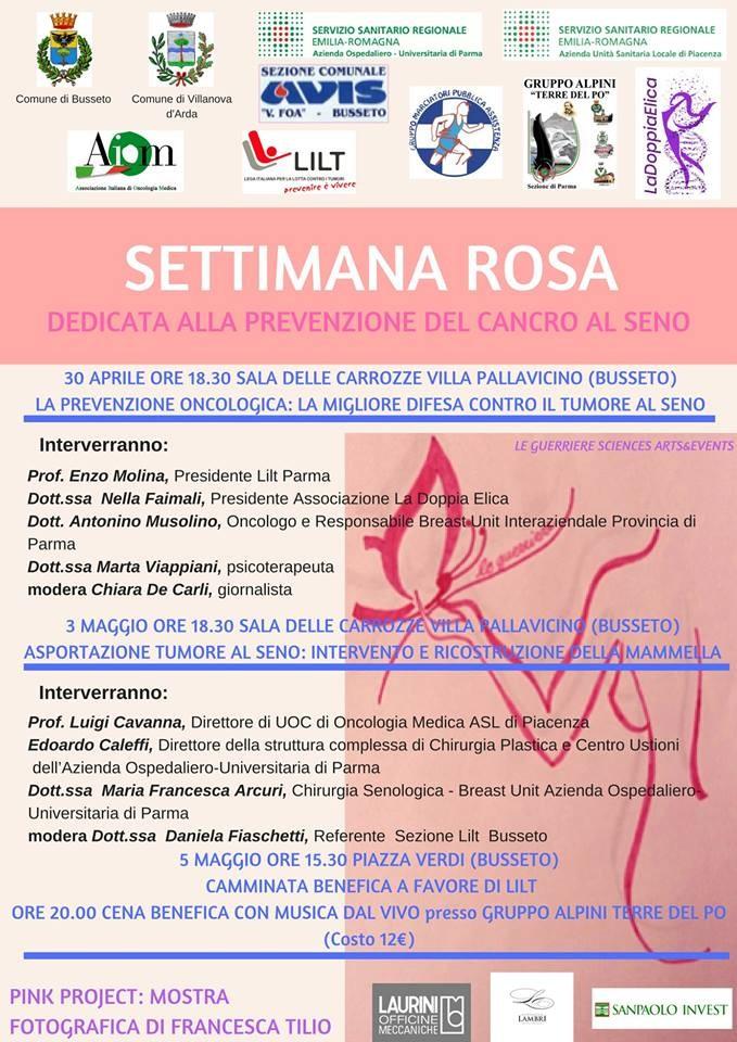 Settimana Rosa, dedicata alla prevenzione del cancro al seno