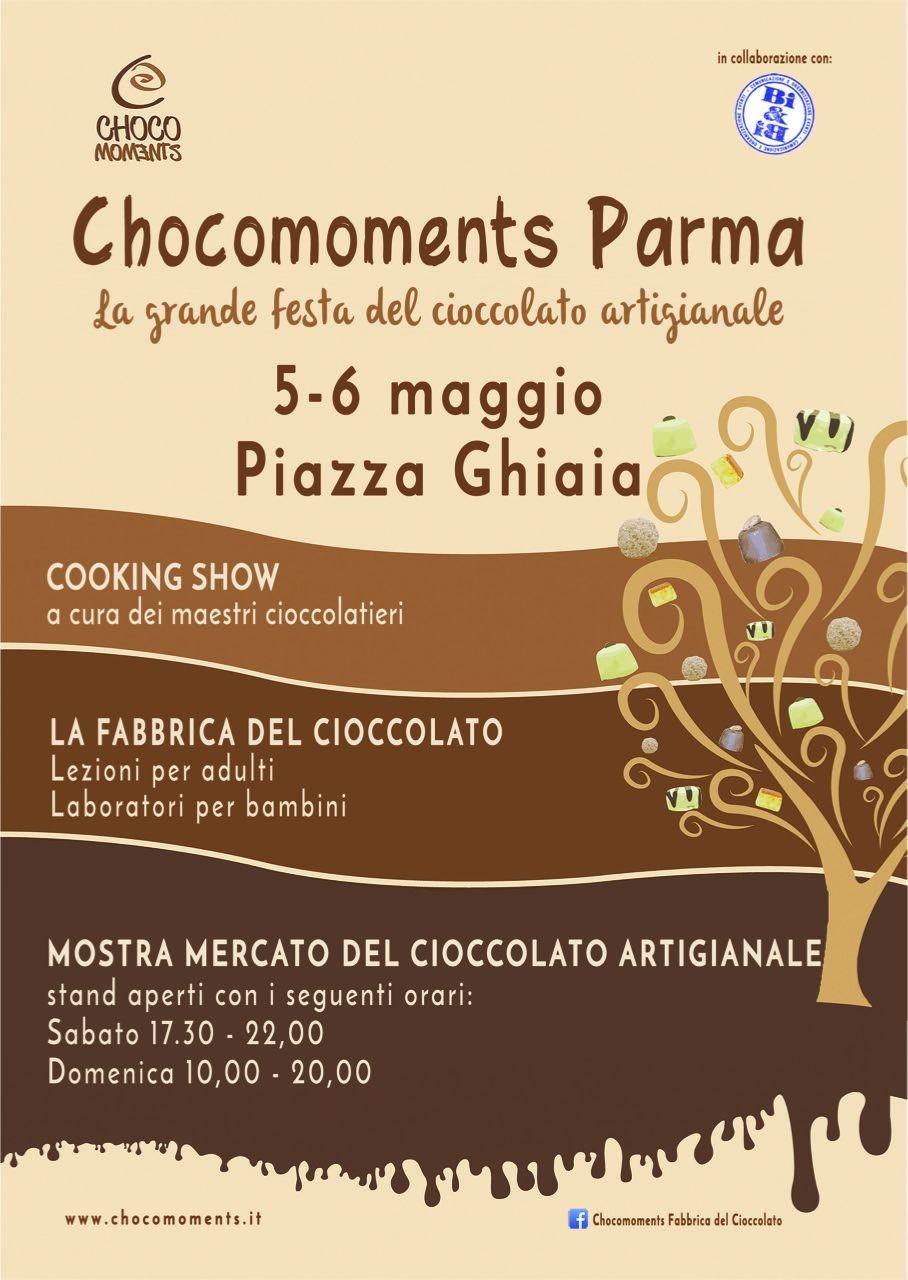 CHOCOMOMENTS 2018 - 5 E 6 MAGGIO IN PIAZZA GHIAIA, festa del cioccolato artigianale