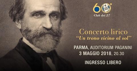 """Celebrazioni per il Sessantesimo anno di fondazione del Club dei 27 : concerto lirico inaugurale  """"Un trono vicino al sol"""""""