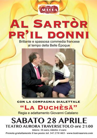 Al CINEMA TEATRO AURORA DI TRAVERSETOLO  Sartor pr'il donni
