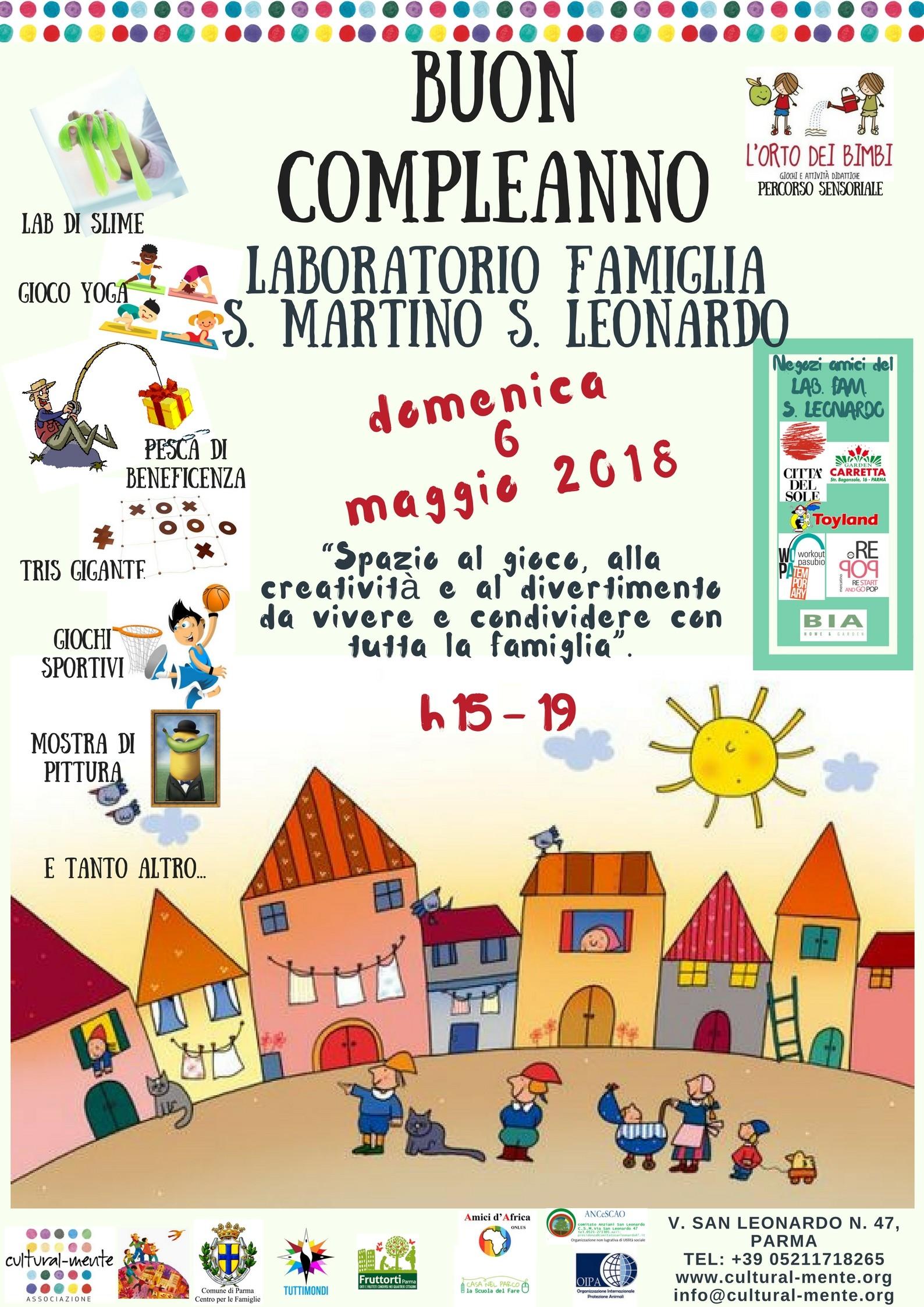 Festa di compleanno del Laboratorio Famiglia San Martino - San Leonardo.