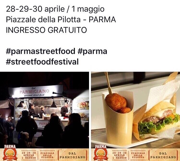 Dal Parmigiano - Gourmet Street Food a Parma Street Food Festival... In Pilotta
