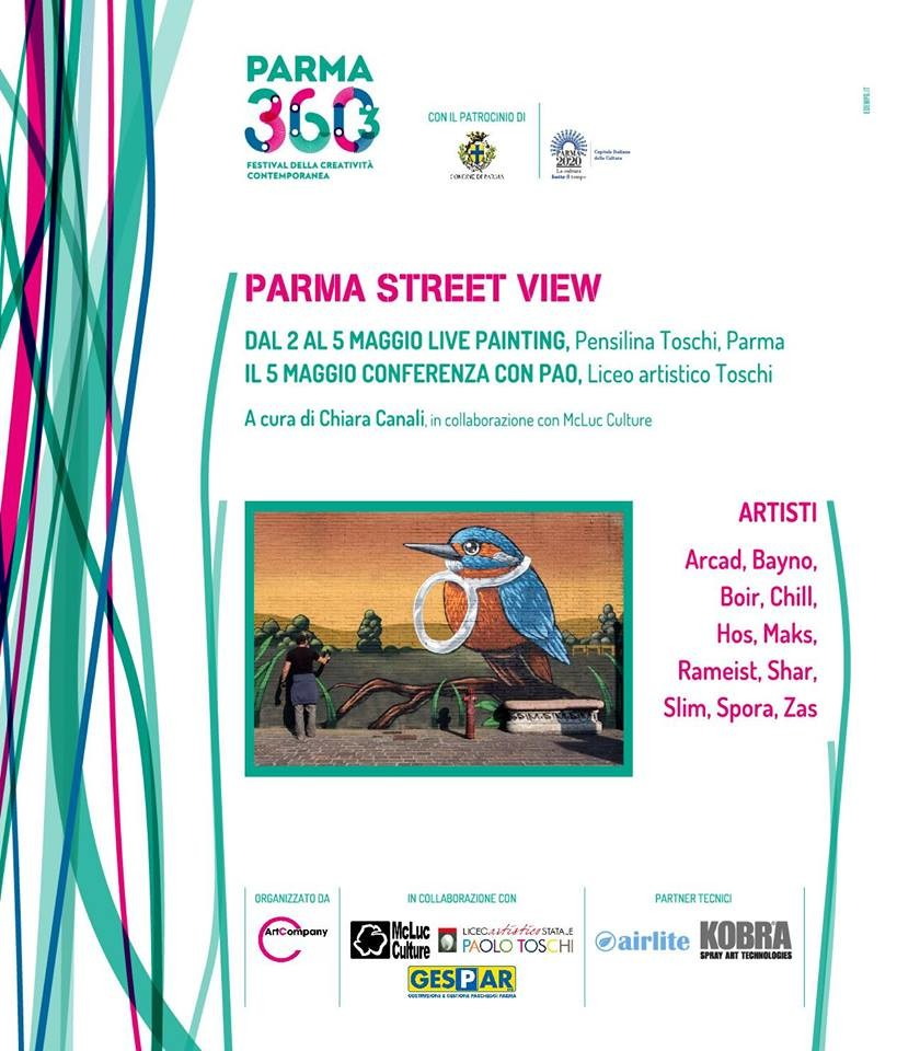 Parma street view:  Live painting