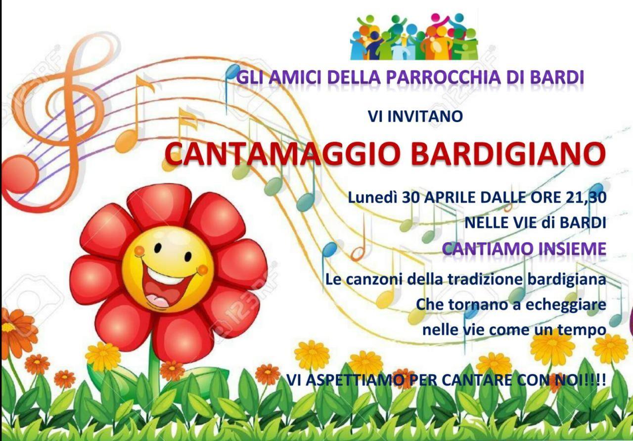 CANTAMAGGIO BARDIGIANO. NELLA NOTTE DI LUNEDI' 30 APRILE PER LE VIE DEL PAESE!!