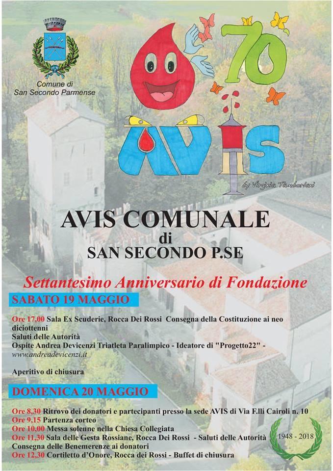 70 anni di AVIS a San Secondo