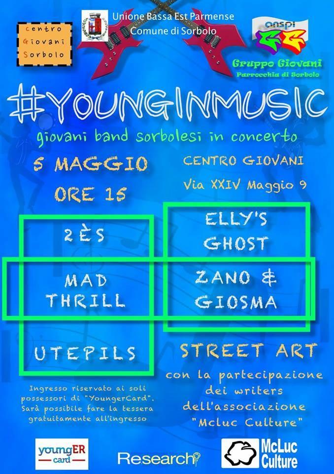 #younginmusic a Sorbolo ANNULLATO CAUSA MALTEMPO