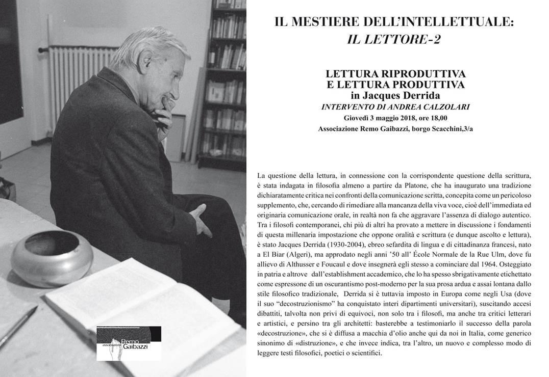 IL MESTIERE DELL'INTELLETTUALE: IL LETTORE-2 LETTURA RIPRODUTTIVA E LETTURA PRODUTTIVA