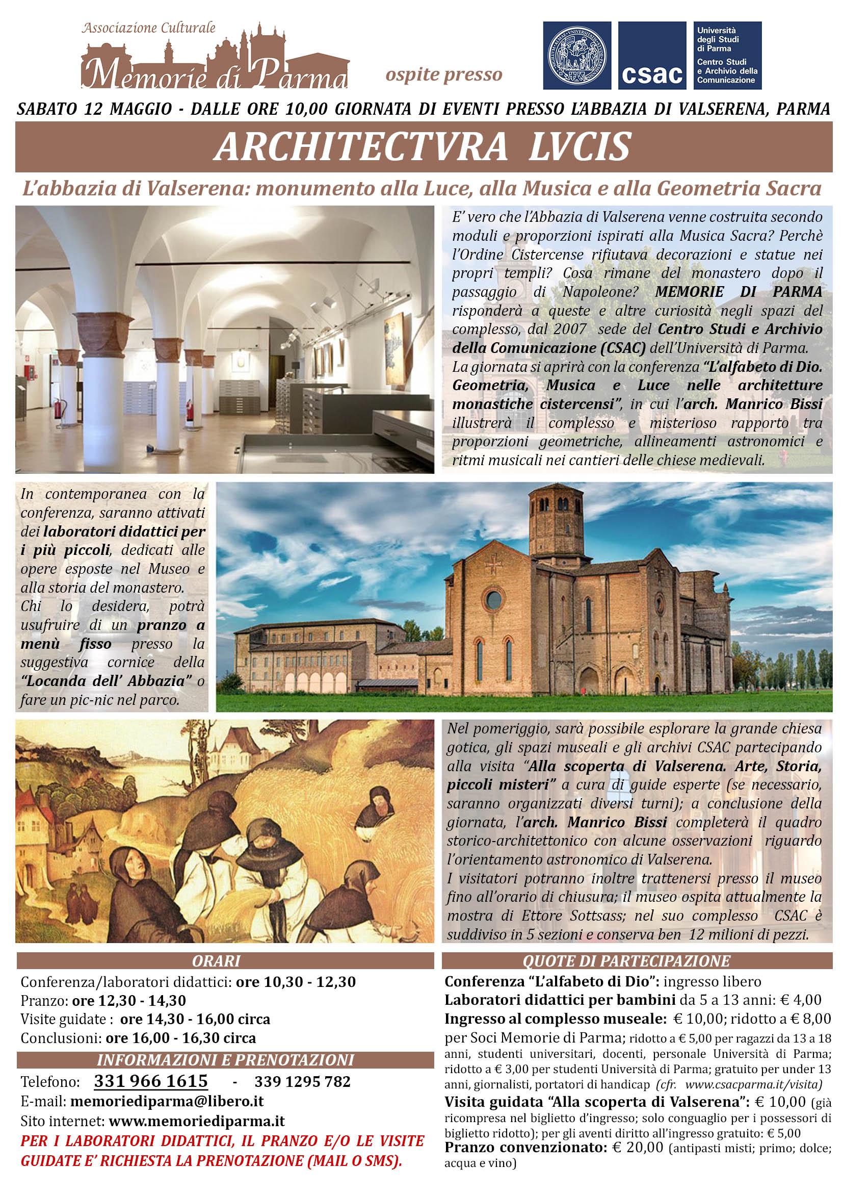 """""""ARCHITECTURA LUCIS. L'abbazia di Valserena: monumento alla Luce, alla Musica e alla Geometria Sacra"""""""