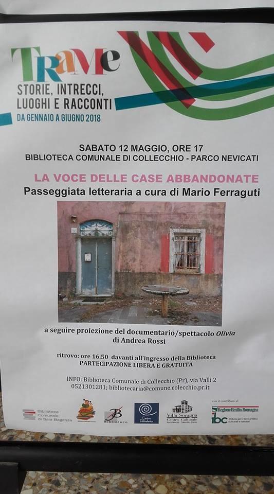 La voce delle case abbandonate, passeggiata letteraria a cura di Mario Ferraguti