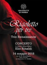 """Concerto del Trio Renaissance in ricordo di Elio Rinaldi """"Rigoletto per tre"""""""