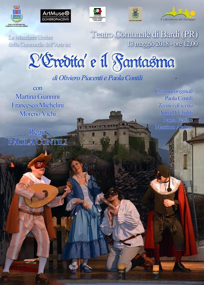 """Lo spettacolo """"L'eredità e il fantasma"""" in scena al Teatro di Bardi"""