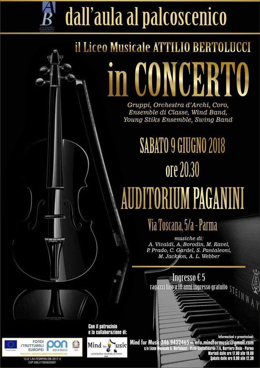 Il Liceo Musicale  Attilio Bertolucci  in concerto al Paganini