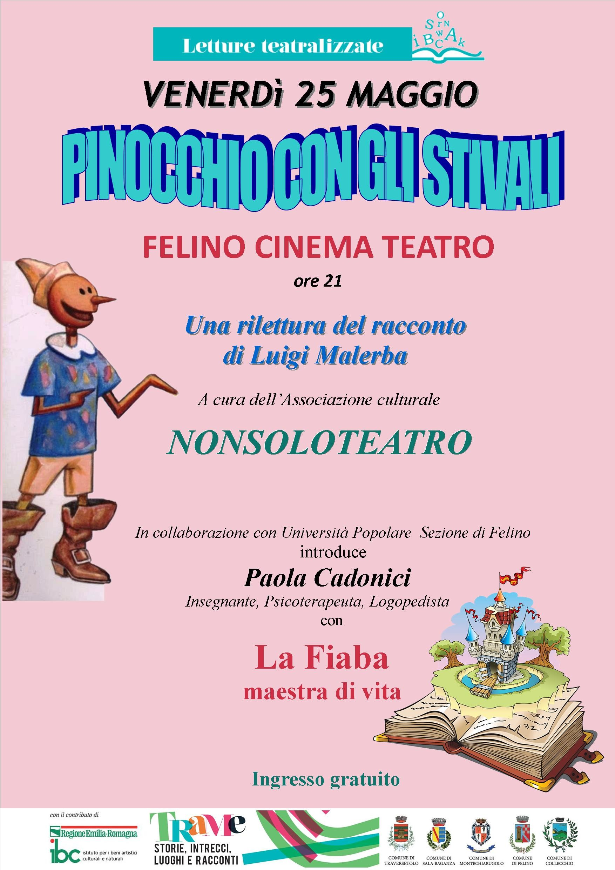 Al Teatro Comunale di Felino: PINOCCHIO CON GLI STIVALI