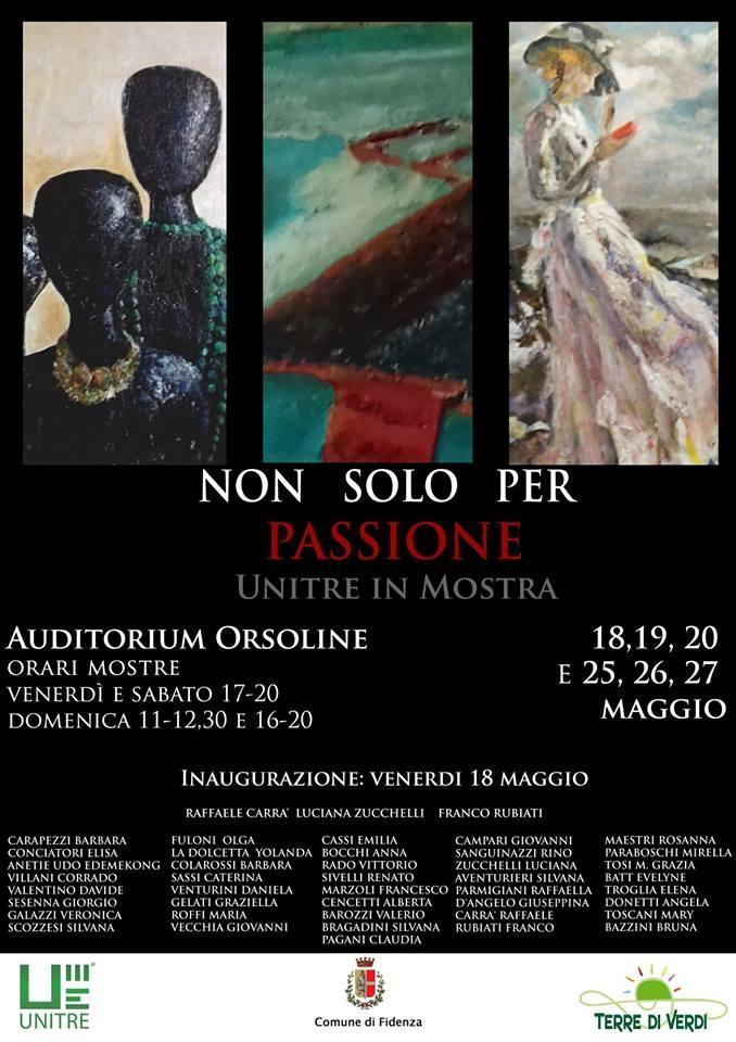 """Mostra """"Non solo per passione"""", in programma all'Auditorium Orsoline"""