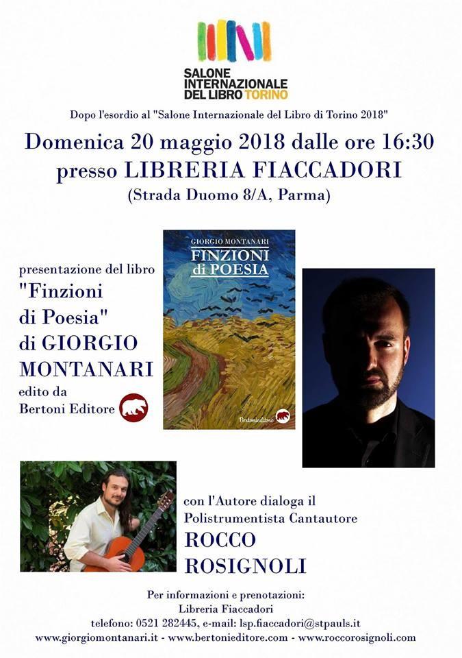 Presentazione libro 'Finzioni di poesia' di Giorgio Montanari