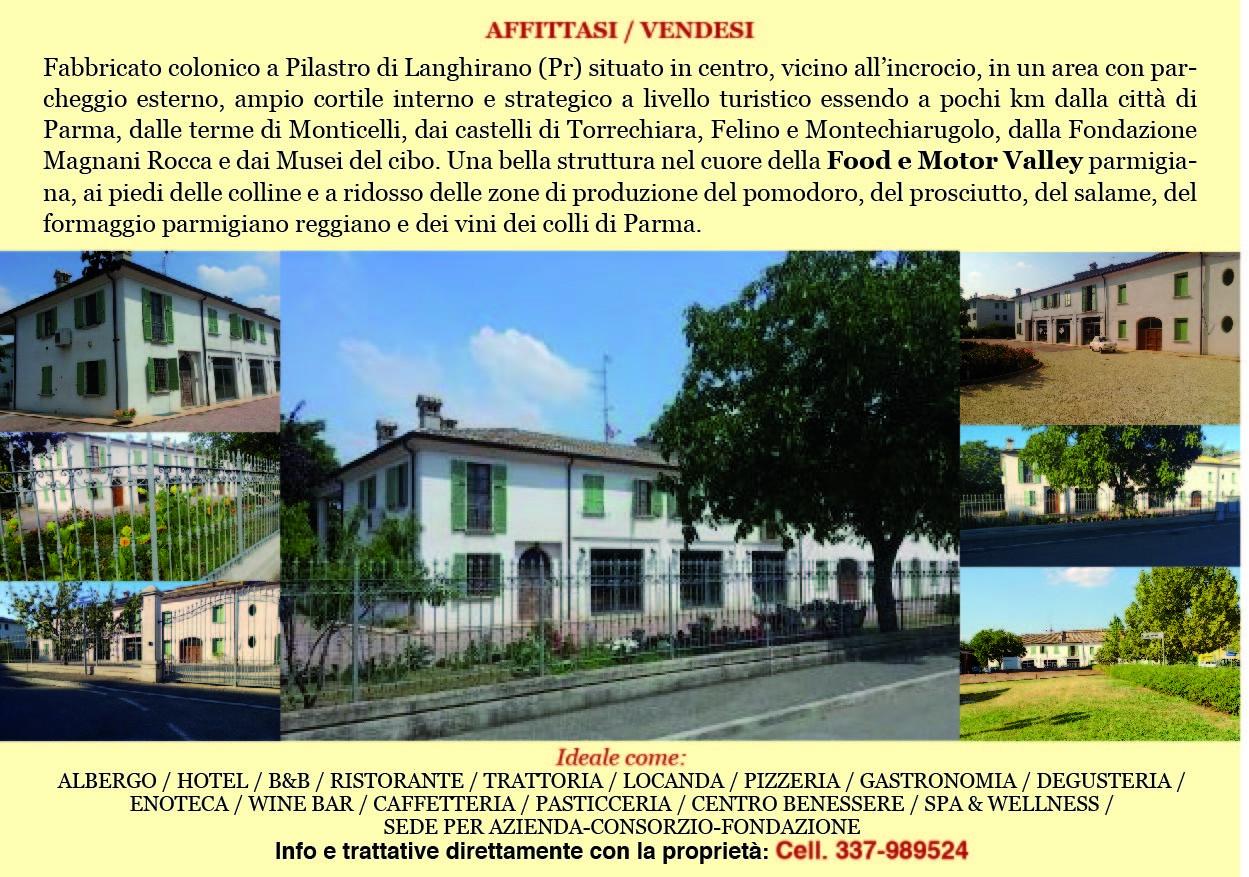 AFFITTASI/VENDESI fabbricato colonico a Pilastro, ideale come poliambulatorio