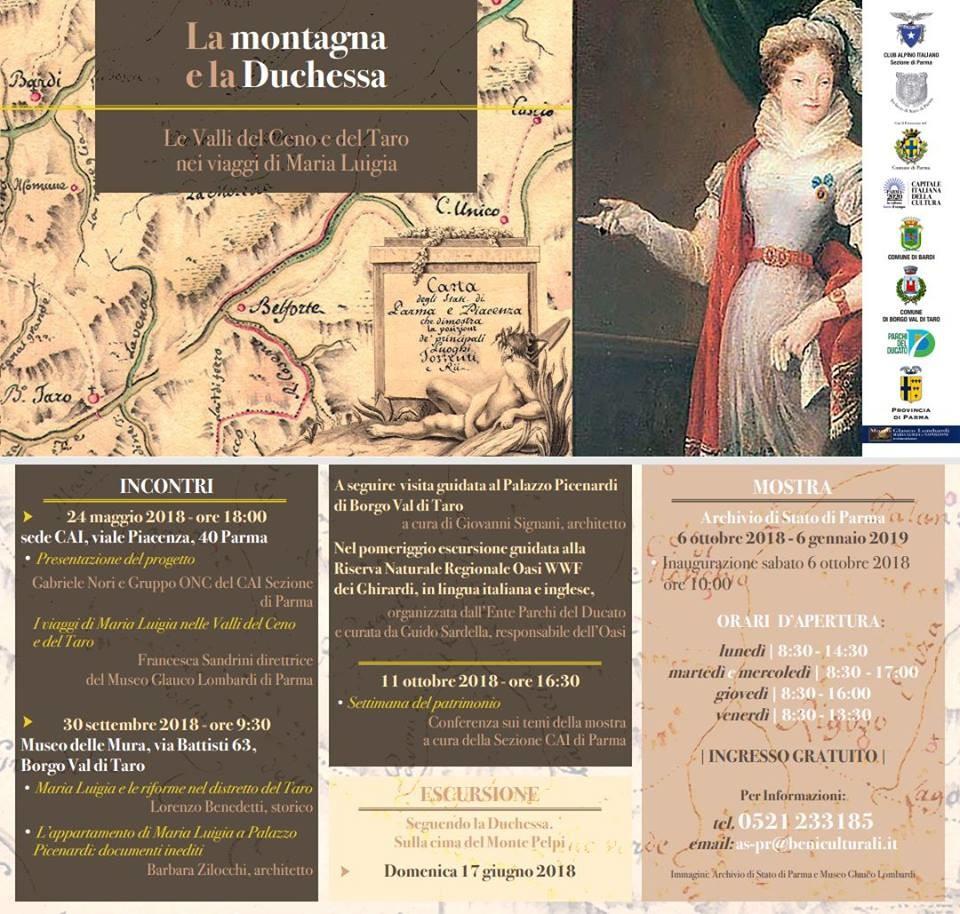 La montagna e la Duchessa - Le valli del Ceno e del Taro nei viaggi di Maria Luigia
