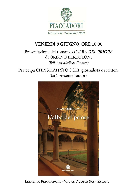 """Presentazione, alla presenza dell'autore del libro  """"L'alba del priore"""" di Oriano Bertoloni con Christian Stocchi"""