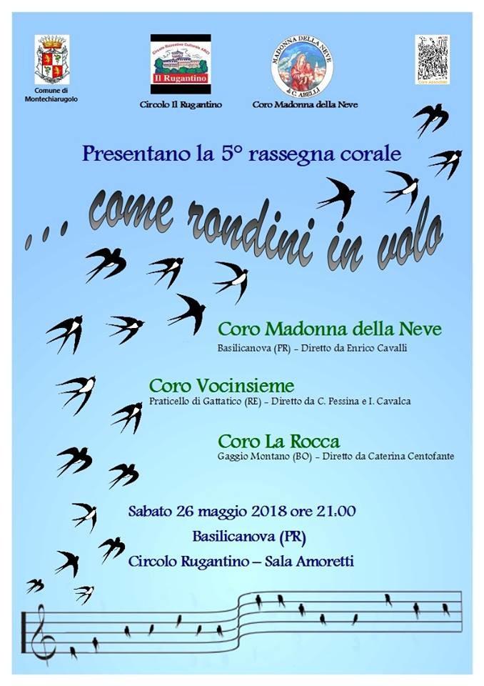 Come rondini in volo, rassegna corale a Basilicanova