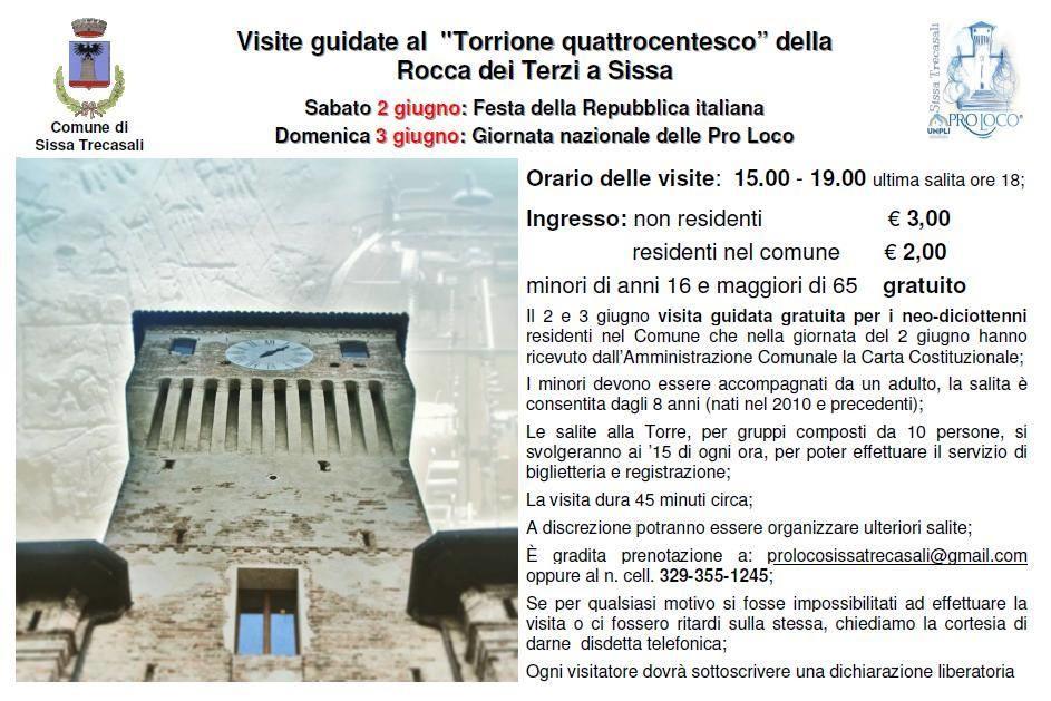 Visite guidate al Torrione della Rocca dei Terzi