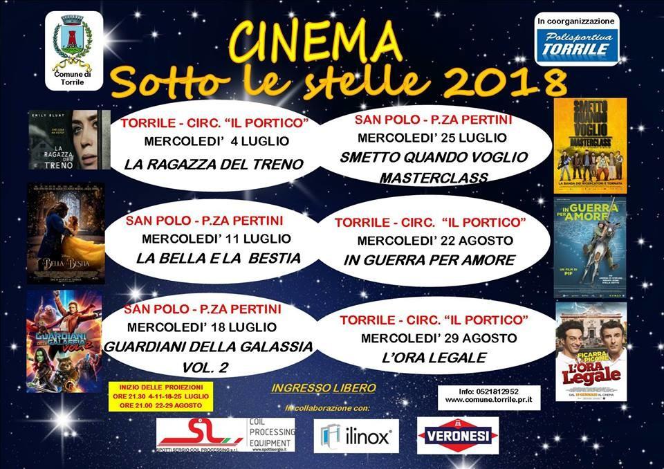 "A Torrile ""Cinema sotto le stelle"""
