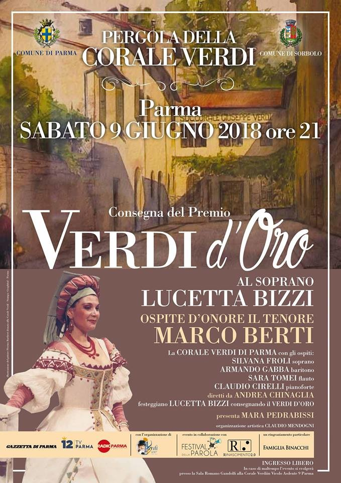 """Premio """"Verdi d'oro"""" al soprano Lucetta Bizzi"""