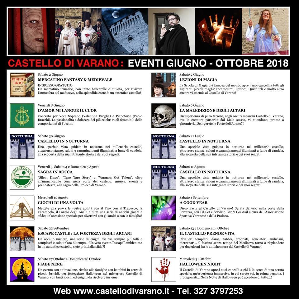Eventi al Castello Pallavicino di Varano de' Melegari