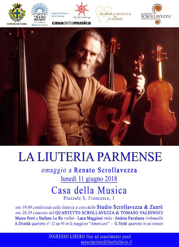 Conferenza - concerto   La Liuteria Parmense  Omaggio a Renato Scrollavezza