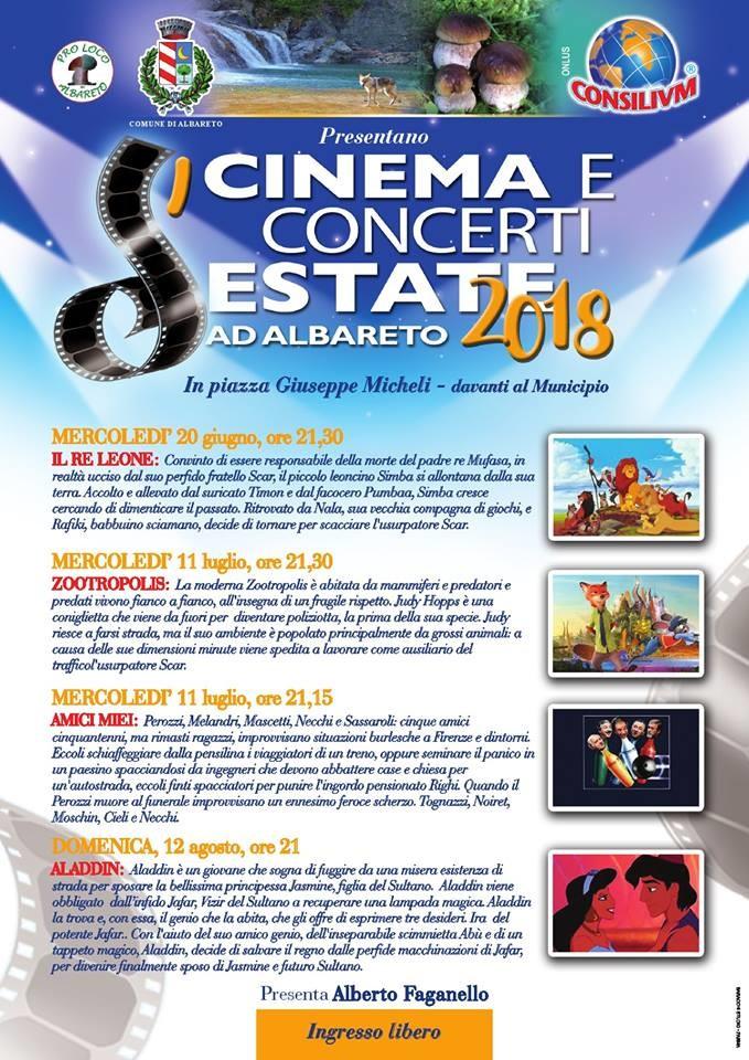 CINEMA D'ESTATE 2018 ad Albareto