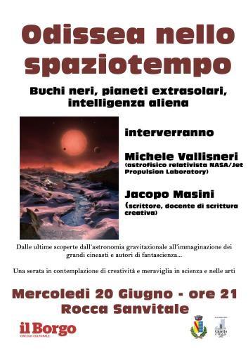 """""""Odissea nello spaziotempo"""" con Vallisneri e Masini Uno scienziato e uno scrittore per parlare di scienza e fantascienza"""