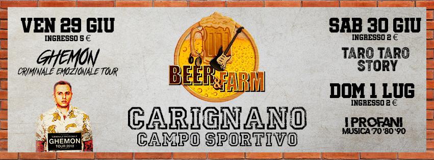 Beer&Farm - Festa della Birra di Carignano 2018