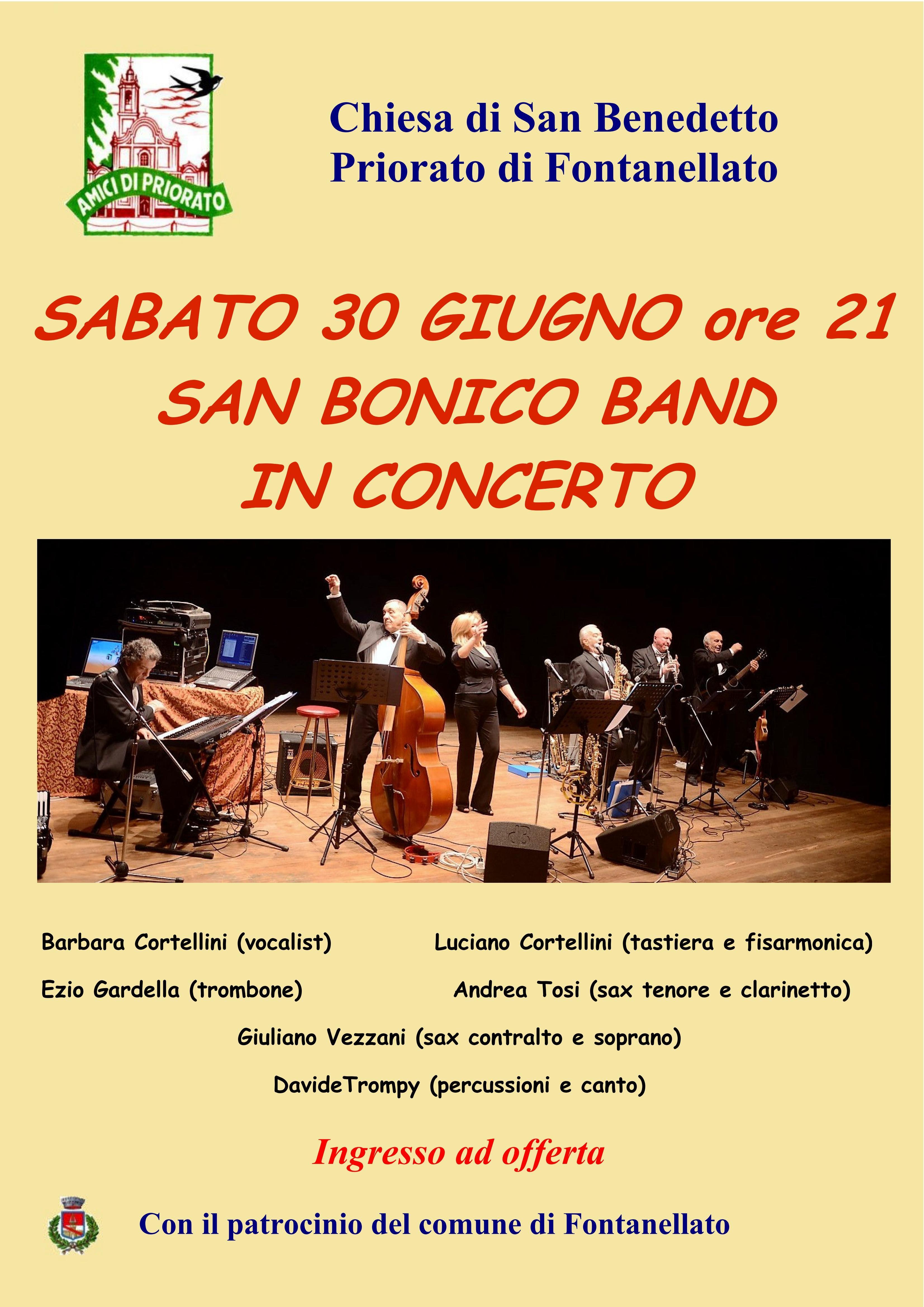 SAN BONICO BAND in concerto a Priorato
