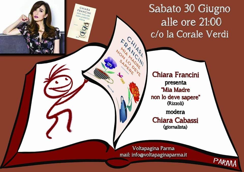 """Chiara Francini presenta il suo libro  """"Mia madre non lo deve sapere"""""""