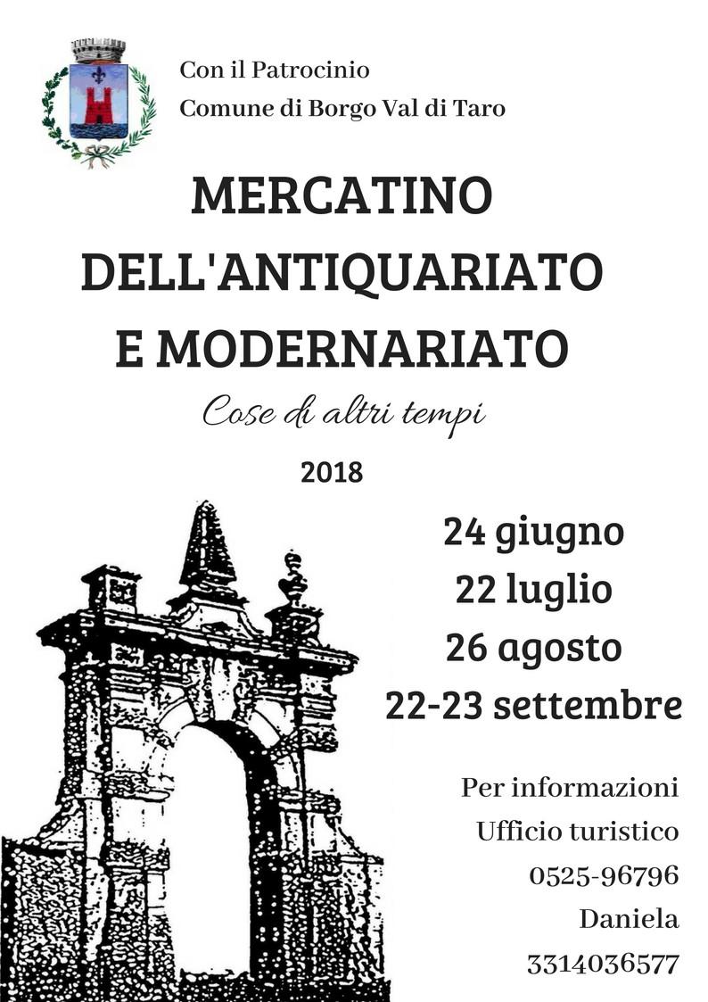 Mercato dell'antiquariato a Borgotaro, ogni 4° domenica del mese