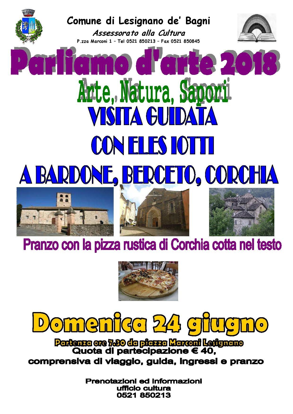 Parliamo d'arte: visita guidata a Bardone, Berceto e Corchia