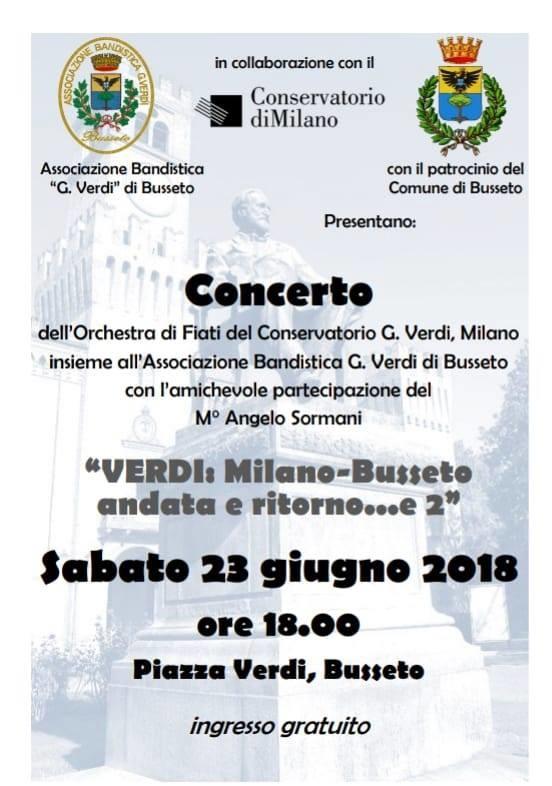 """Concerto """"Verdi: Milano-Busseto andata e ritorno e 2"""""""