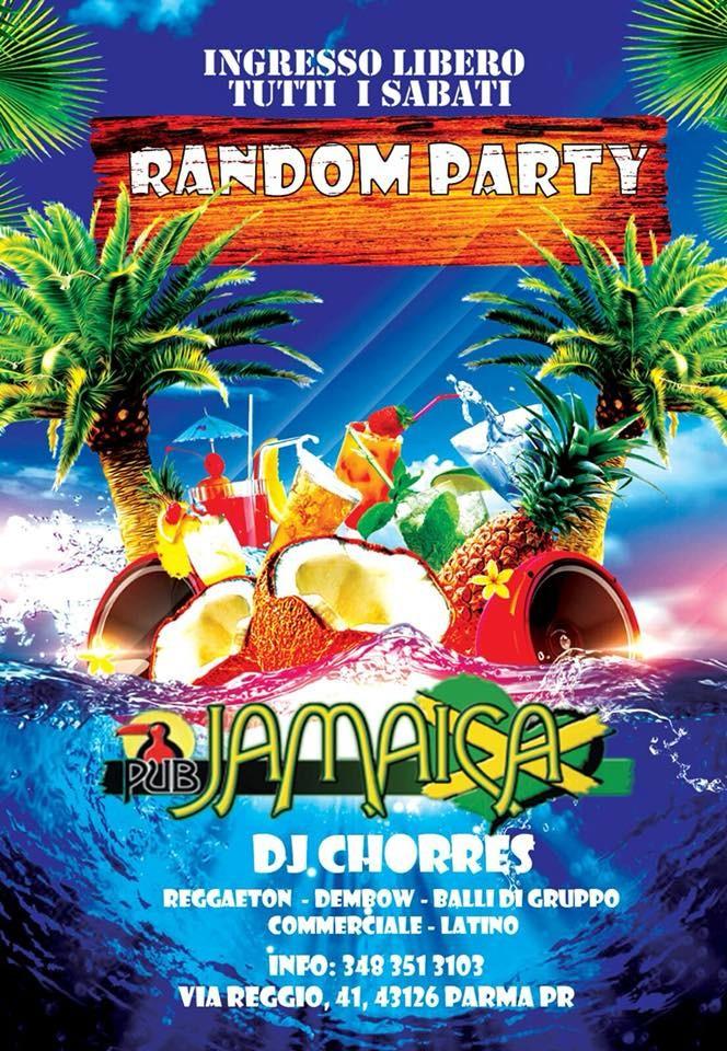 """AL JAMAICA PUB PARMA """"RANDOM PARTY"""""""