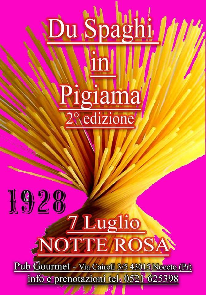 Du spaghi in pigiama 2° edizione al Pub Gourmet Diciannove Ventotto Ristorante
