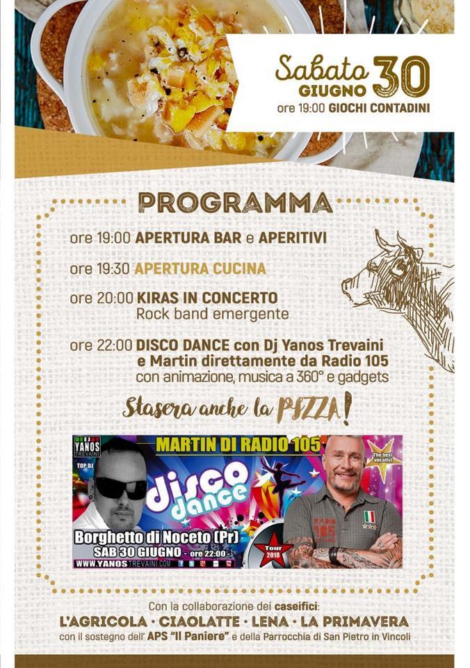 2^ festa di SAN LUCIO - Sagra del PARMIGIANO REGGIANO programma del 30