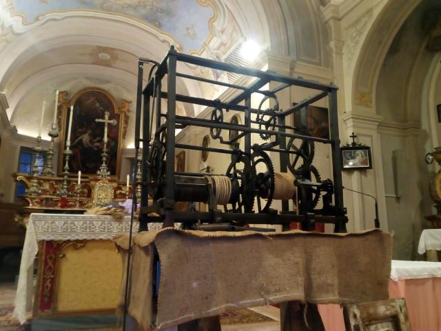 """Nella chiesa di San Lorenzo a Palasone  presentazione  del """"Recupero dell'orologiosettecentesco"""""""