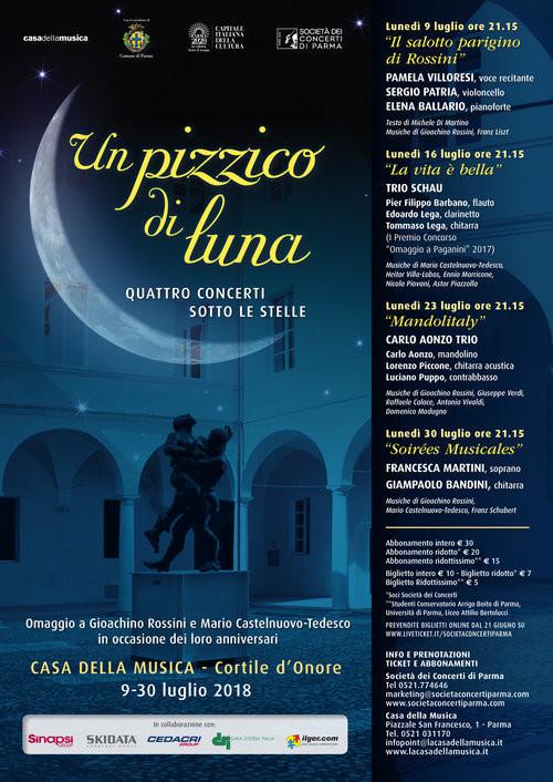 """""""Un pizzico di luna"""": l'estate sotto le stelle  della Casa della Musica"""