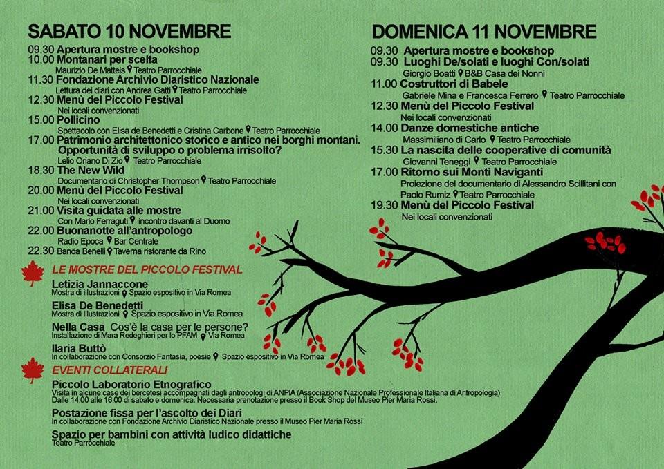 PFAM  Piccolo Festival di Antropologia della Montagna.