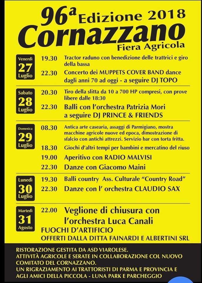 Fiera Agricola del Cornazzano, 96° edizione