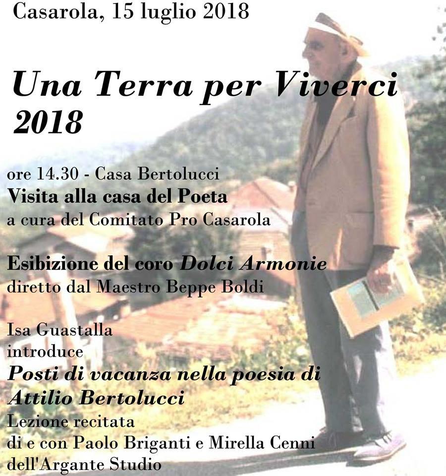 "A Casarola  ""Una Terra per Viverci"" -18° edizione"