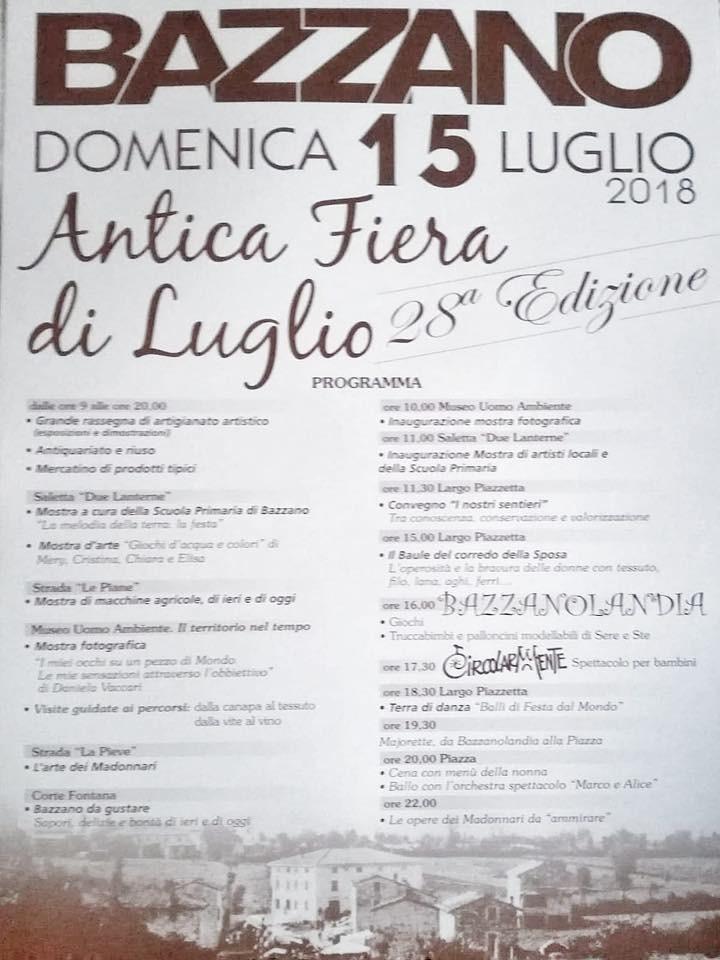 A Bazzano  28esima edizione dell'Antica Fiera di Luglio