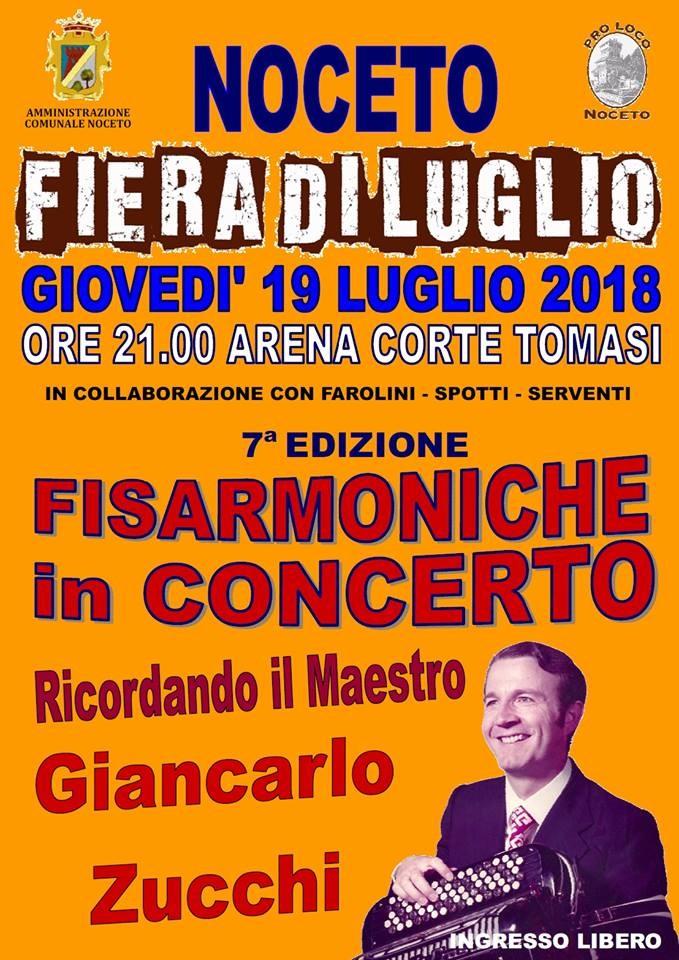 Fiera di Luglio 2018 a Noceto: fisarmoniche in concerto