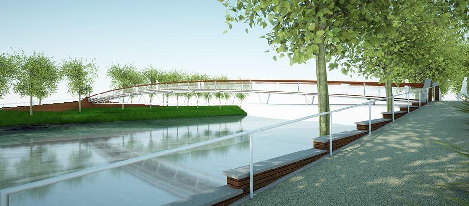 Cerimonia della posa della prima pietra del nuovo ponte della Navetta