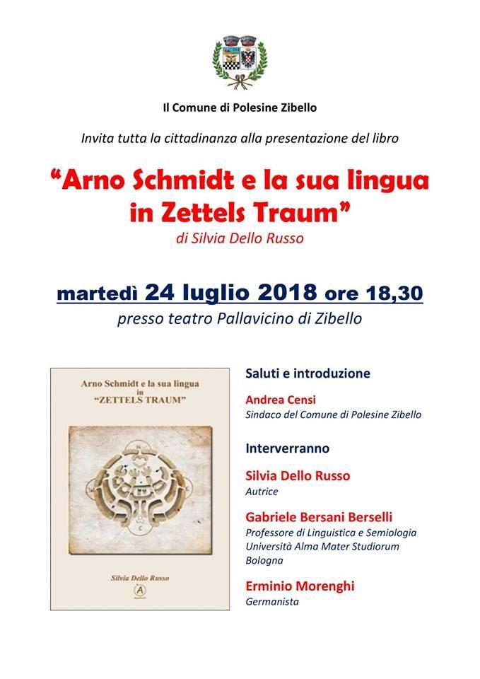 """Presentazione del libro di Silvia Dello Russo """"Arno Schmidt e la sua lingua in Zettels Traum"""""""